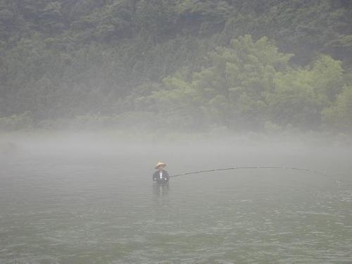 鮎の毛鉤釣り